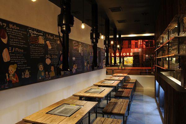 Takashi restaurant, New York; Japanese-Korean BBQ