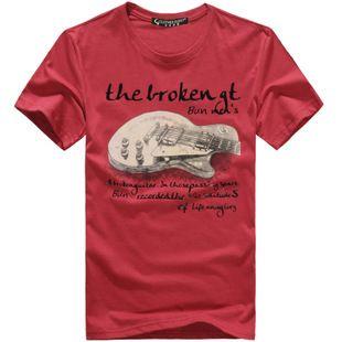 camisa del dibujo guitarra,