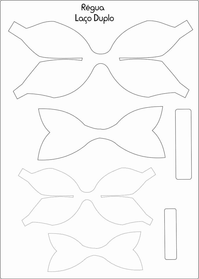 It's just a photo of Free Printable Hair Bow Templates intended for dolly