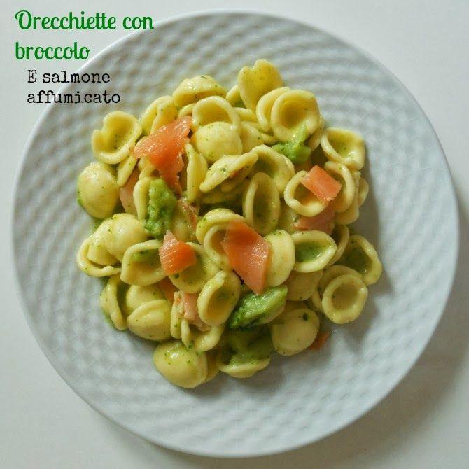 Orecchiette con broccolo e salmone affumicato - Broccoli and salmon pasta | Perle ai Porchy