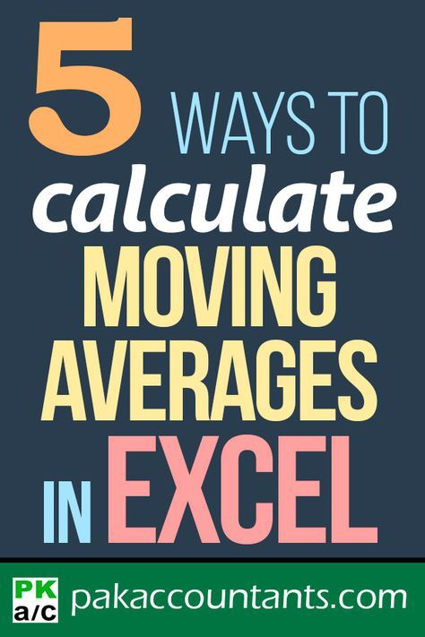 calculate moving average in excel pinterest moving average template and tutorials
