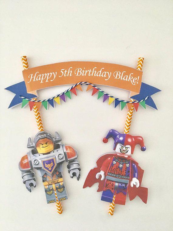 LEGO Nexo caballero Cake Bunting