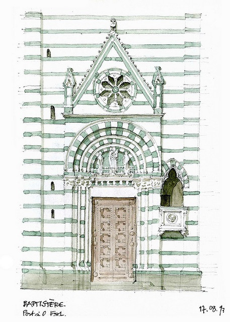 Pistoia, baptistère 1997 by gerard michel, via Flickr