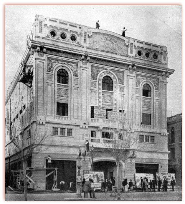El elegante Teatro Carrera en la Alameda 1926 by santiagonostalgico