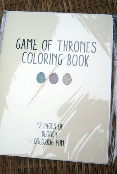 Game of Thrones Coloring Book by sweetgeek on Etsy