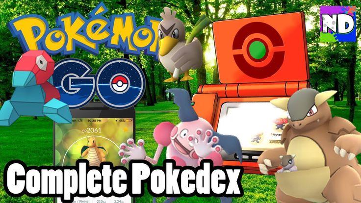 COMPLETE Pokedex in Pokemon Go w/ Video Proof!