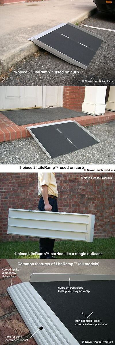 Access Ramps: 2 Wheelchair Ramp | Scooter Ramp | Literamp Portable Handicap Ramps BUY IT NOW ONLY: $99.0