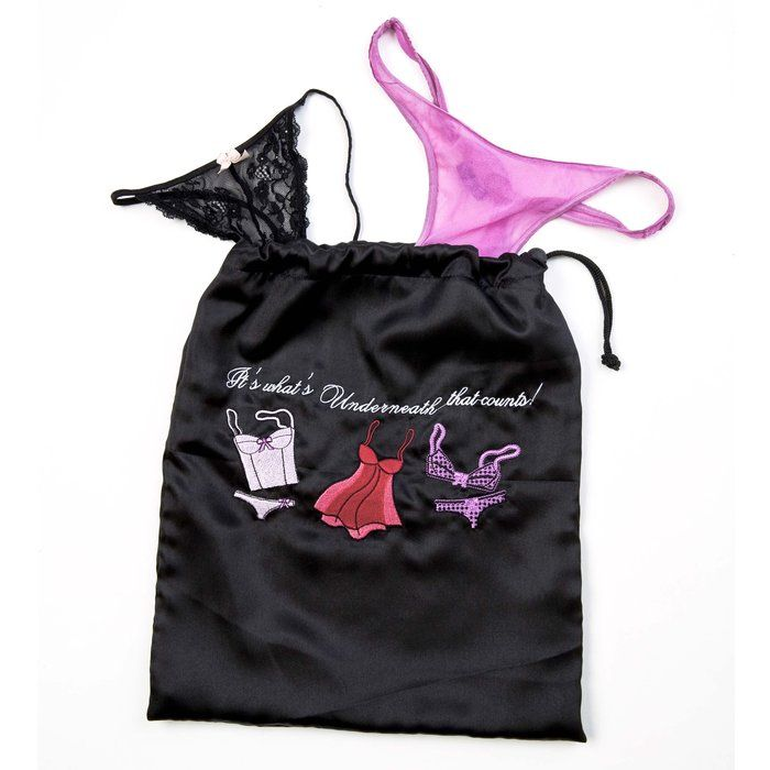 "Miamica ""It's What Underneath That Counts"" is the perfect, compact, expandable Lingerie bag for your travel needs!"