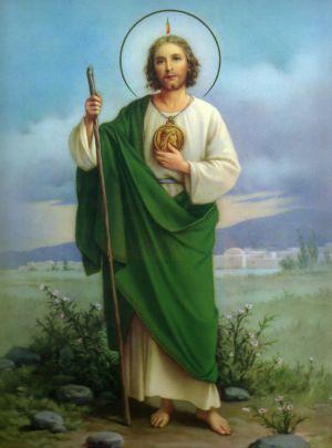 Devoción a San Judas Tadeo.                                                                                                                                                                                 Más