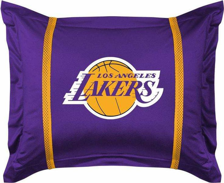 Los Angeles Lakers Pillow Sham! #lakers #bedding