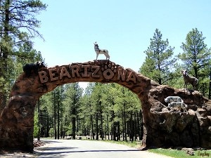 Entrance to Bearizona in Williams AZ Fun Tucson Things to Do