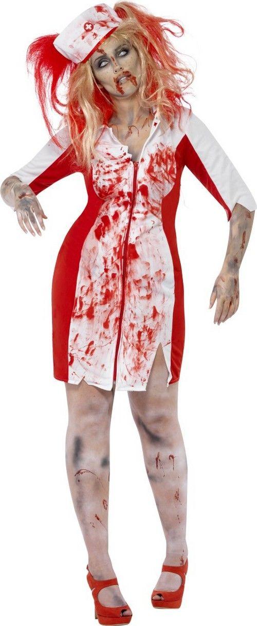 423cdef2faae6 Déguisement zombie infirmière femme Halloween   Déguisement femme ...