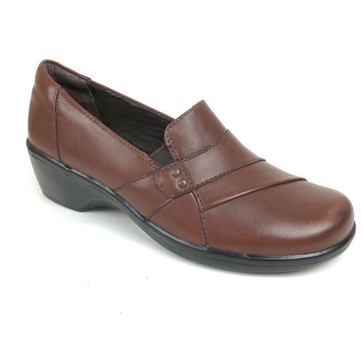 Clarks Collection May Marigold Loafers Slip On Leather Womens Shoes brown Sz 5  | eBay