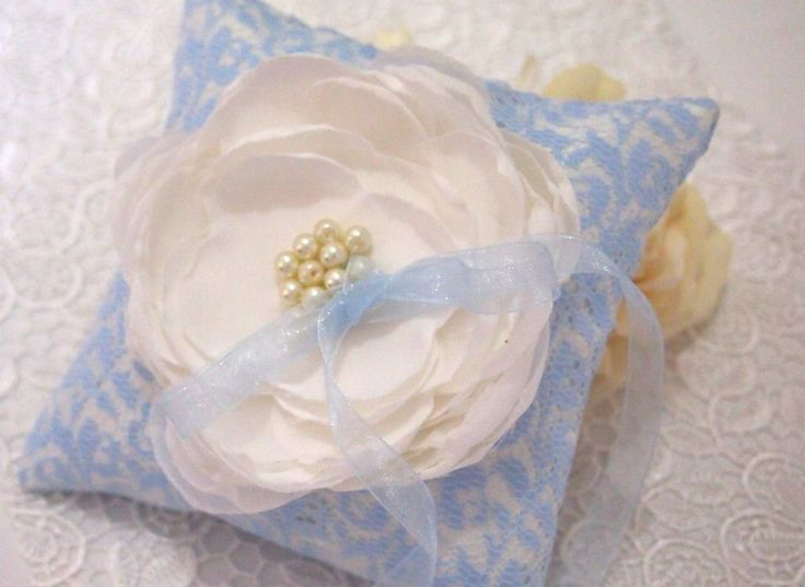Made to Order. USD 30. Ship within 5-7 days. Shipped Worldwide.#weddingring #ringpillow #lace #flower #rhinestones #wedding #wedding accessories #blue #ribbon #RingPillow  #ringpillow #pastelblue #weddinggift #weddingring #brides #holymatrimony #flowerringpillow #handmade #purple