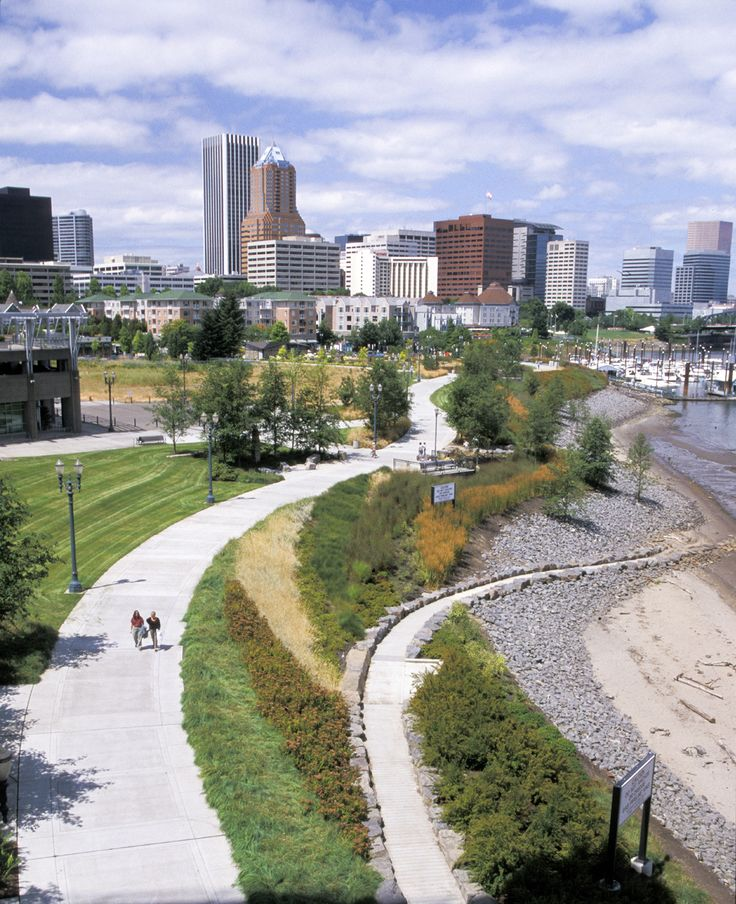 South waterfront park designed by walker macy winner for Waterfront landscape design