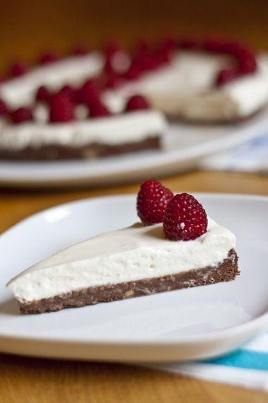 No-Bake Nutella Cake with Yogurt Whipped Cream and Raspberries | My Little Gourmet