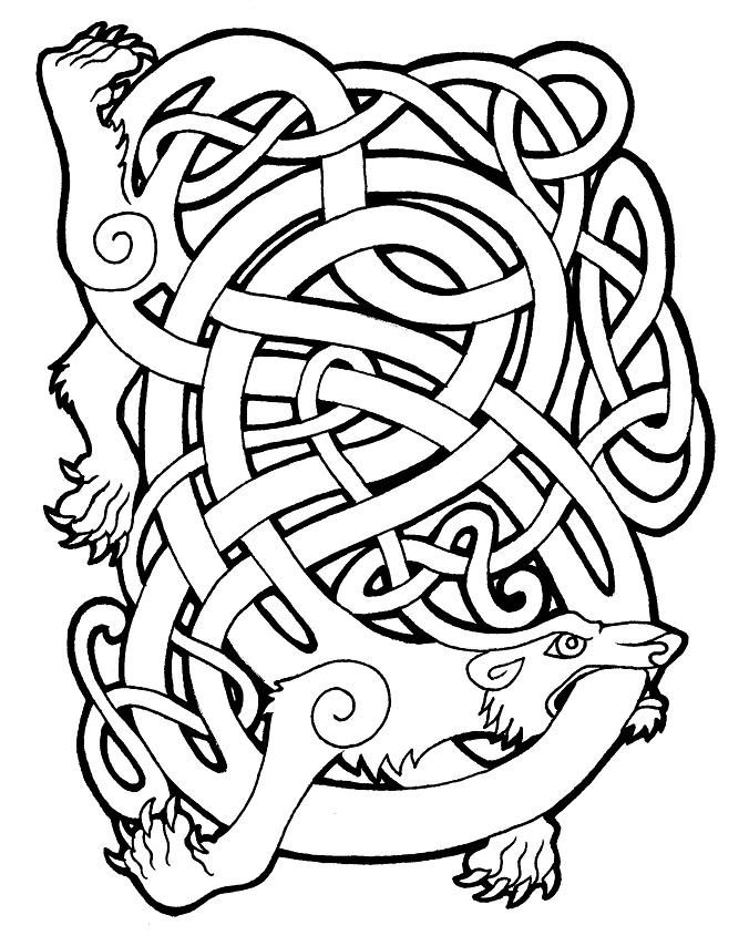 "celtic bear by ~MissSabrina on deviantART    ""Bear (Arth): Although the bear was native to the Isles, it is now extinct there. Evidence of its being a totem animal is found in many Celtic designs; although it is not mentioned in the legends. The word ""arth"", which means ""bear"", is the root word for the name Arthur. The bear was noted for its strength and stamina. It can help you find balance and harmony in your life, and the strength to do what is necessary. """