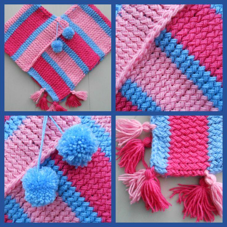 Schattige poncho voor een lief 6 jarig meisje sarabelletje handmade with love for - Schattige meisje slaapkamer ...