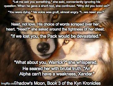 Meme for Shadow's Moon: Bk 3 of The Kyn Kronicles