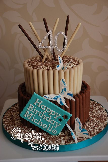 2 tier chocolate finger cake