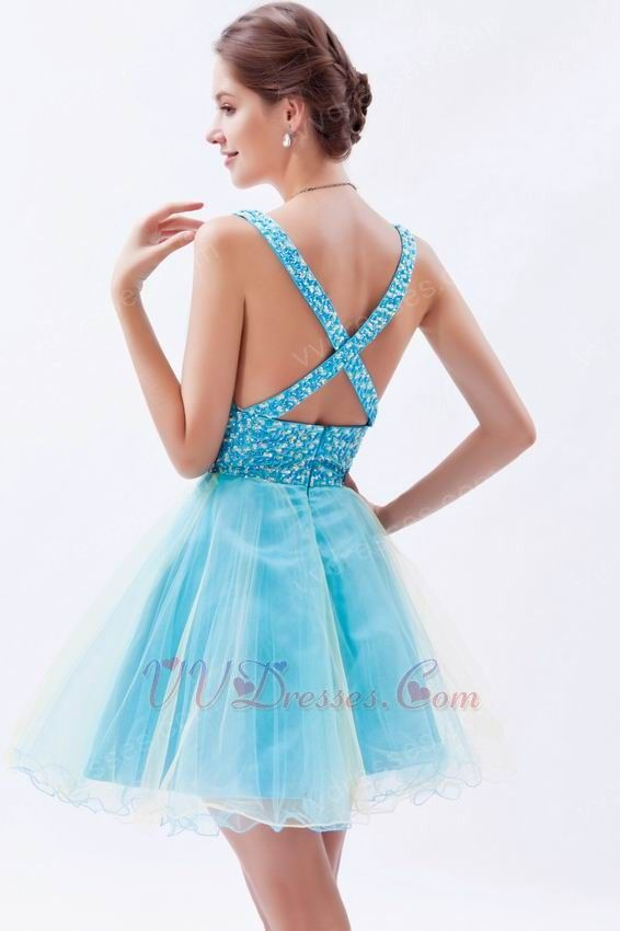 00c820e3a Blue Sweet 16 Dresses   :: Sweet 16 Dresses :: Deep V-Neck Light Blue  Custom Sweet Sixteen ...   Sweet 16th Bday!!!   Dresses, Sweet 16 dresses,  Junior ...