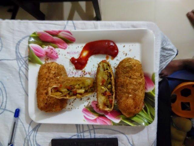 Vegeterian Air Fryer Recipes: HEALTHY CRISPY VEG ROLL