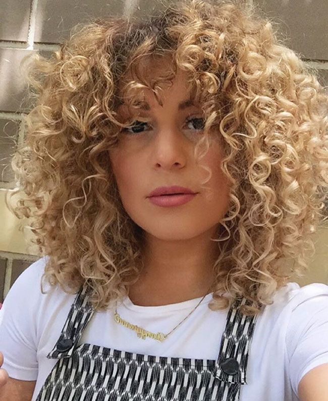 Best 25 Curly Bangs Ideas On Pinterest Curly Hair