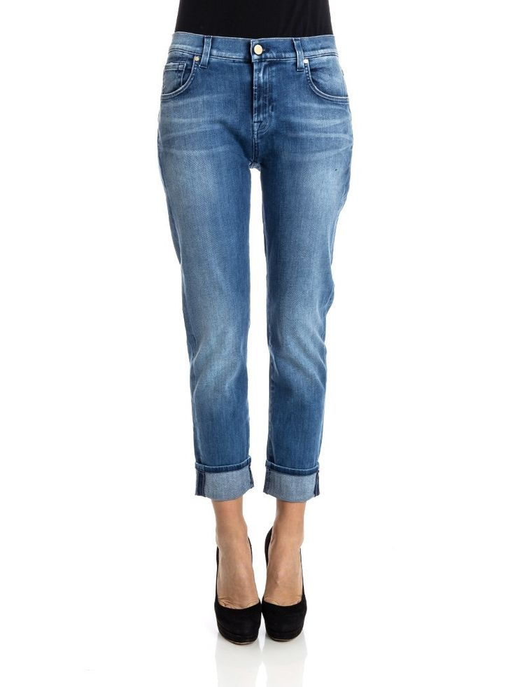7 For All Mankind - Relaxed skinny jeans - slim illusion jeans - mid blue jeans - ZO et LO