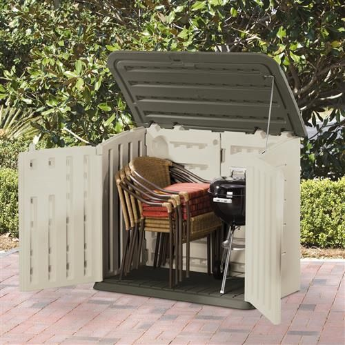 Rubbermaid Plastic Horizontal Outdoor Storage Shed, 32 Cubic Foot