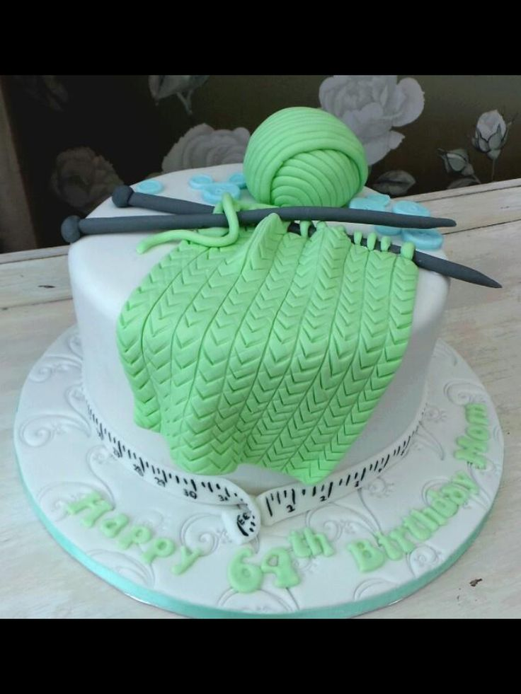 Knitting Birthday Cake Photos : Knitting cake ideas pinterest
