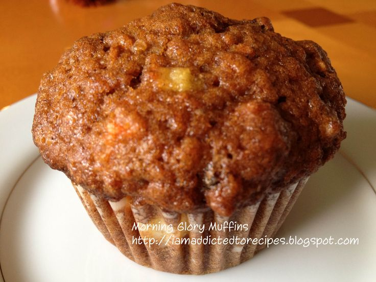 Morning Glory Muffins.  My mom made these when I was younger, and they're the best way to start the day.