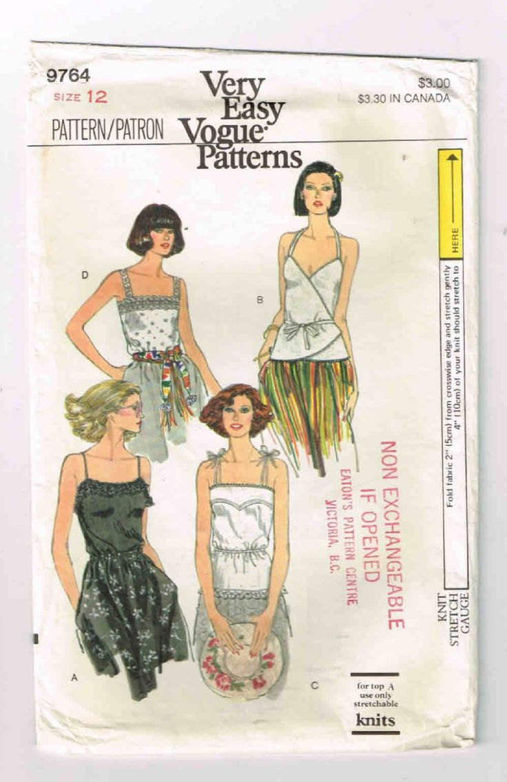 12 best Vintage Blouse, Top & Stretch Knits Patterns images on ...