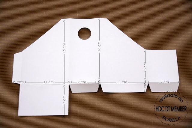 Magazine holder card template