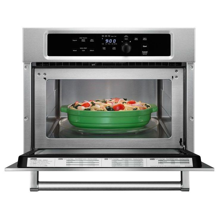 Kitchenaid 14 cu ft builtin microwave in stainless