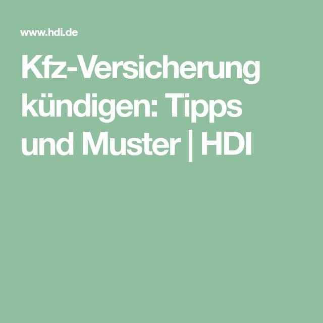 Kfz-Versicherung kündigen: Tipps und Muster | HDI
