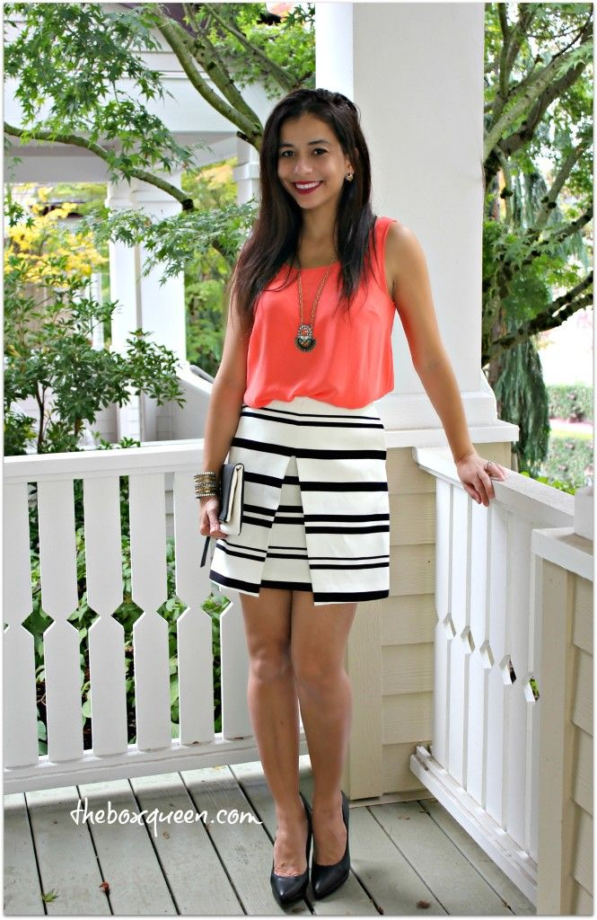 Striped Skirt, Striped Skirt Outfit, Wantable Style Edit Review