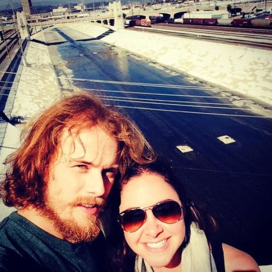 Here's another new pic of Sam Heughan.  Source