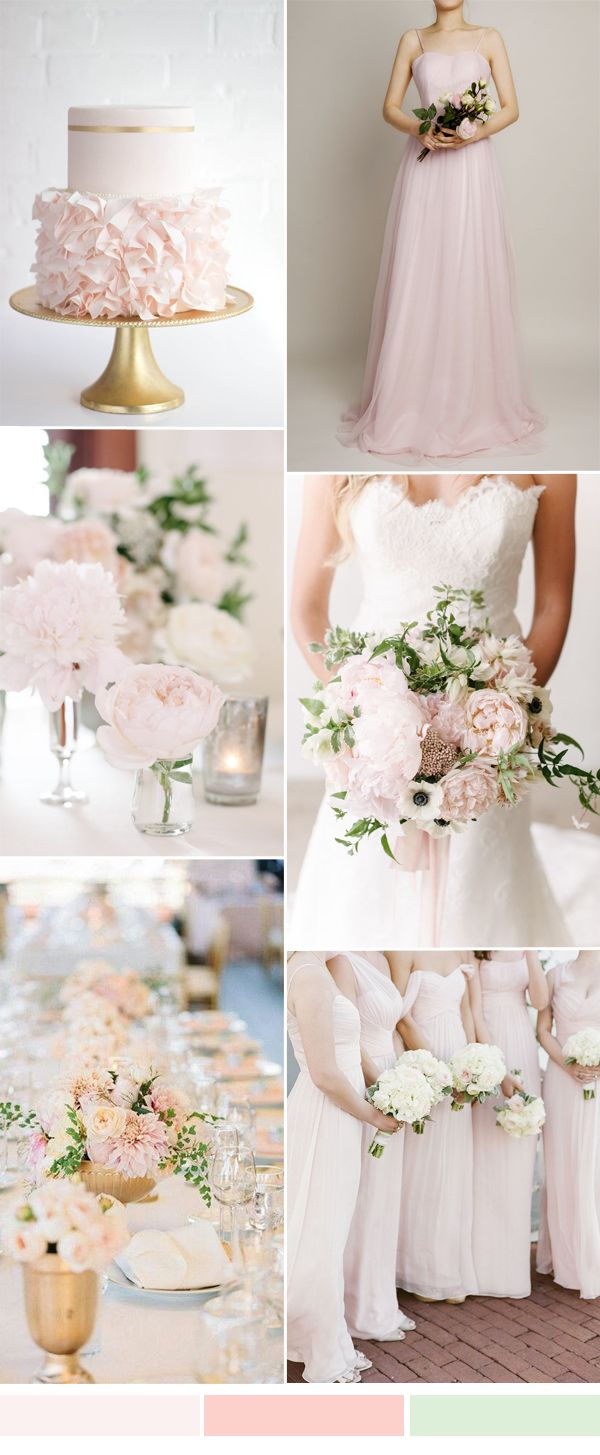 25 best pastel pink weddings ideas on pinterest blush beauty barely pastel pink wedding color ideas and tulle bridesmaid dresses for spring summer wedding 2016 ombrellifo Choice Image