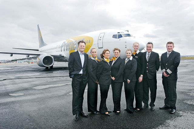 #Primera #Air #cabin #crew #uniform - a Danish airline operating also in Sweden and Finland yachtsailor.blogspot.com