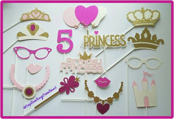Personalized Princess Photo Booth Props by CaptivatingCreation3