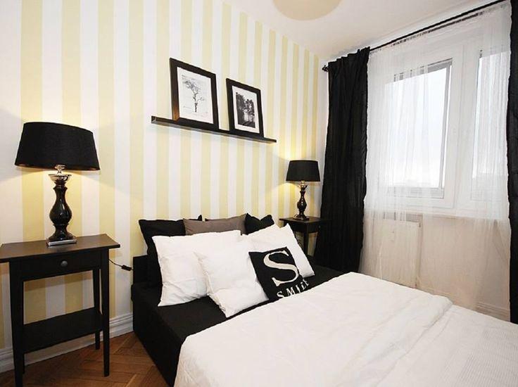 sypialnia biało-żółta