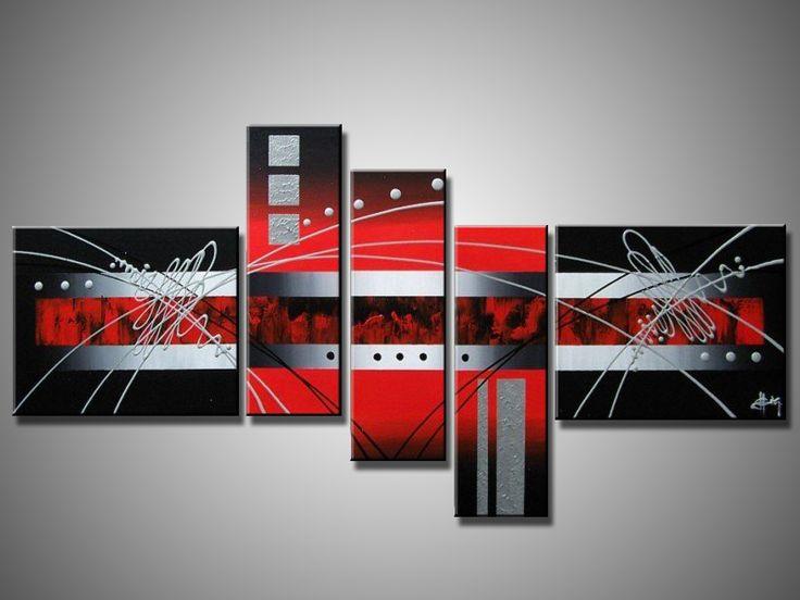 Ручной работы картины маслом на холсте Красный абстрактные картины маслом в внутреннее убранство XD5-030