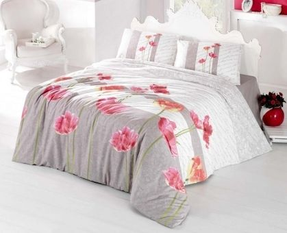 Купить постельное белье ALTINBASAK SARE бежевое 50х70 1,5-сп от производителя Altinbasak (Турция)