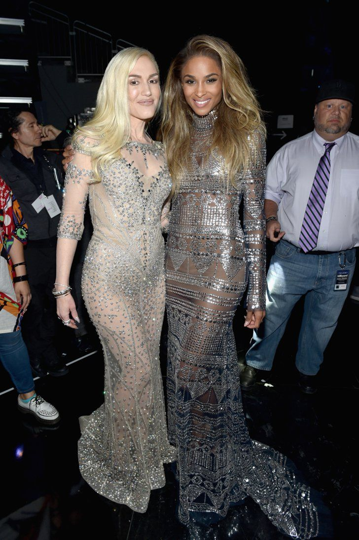 Pin for Later: Ciara and Gwen Stefani Went Twinning in Their Naked Dresses
