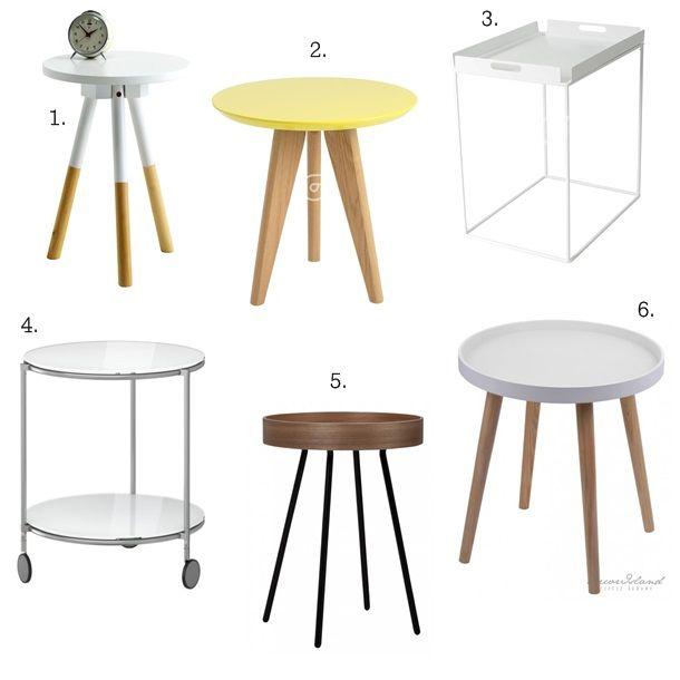 Small table - przegląd stolików pomocniczych