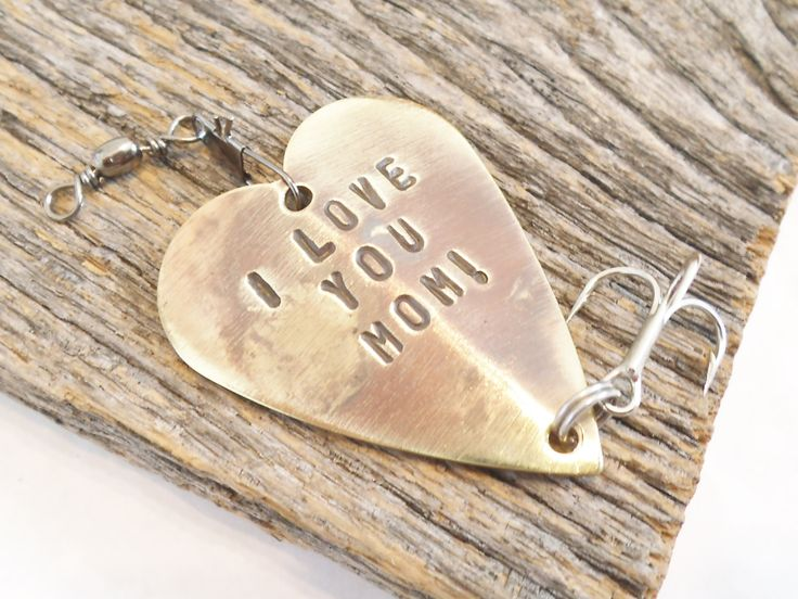 Gift for Wife Christmas Gift Idea for New Mom Love you Mommy To Be Gift for Mom Christmas for Wife Best Mother Ever Fishing Lure Grandma Her by CandTCustomLures on Etsy