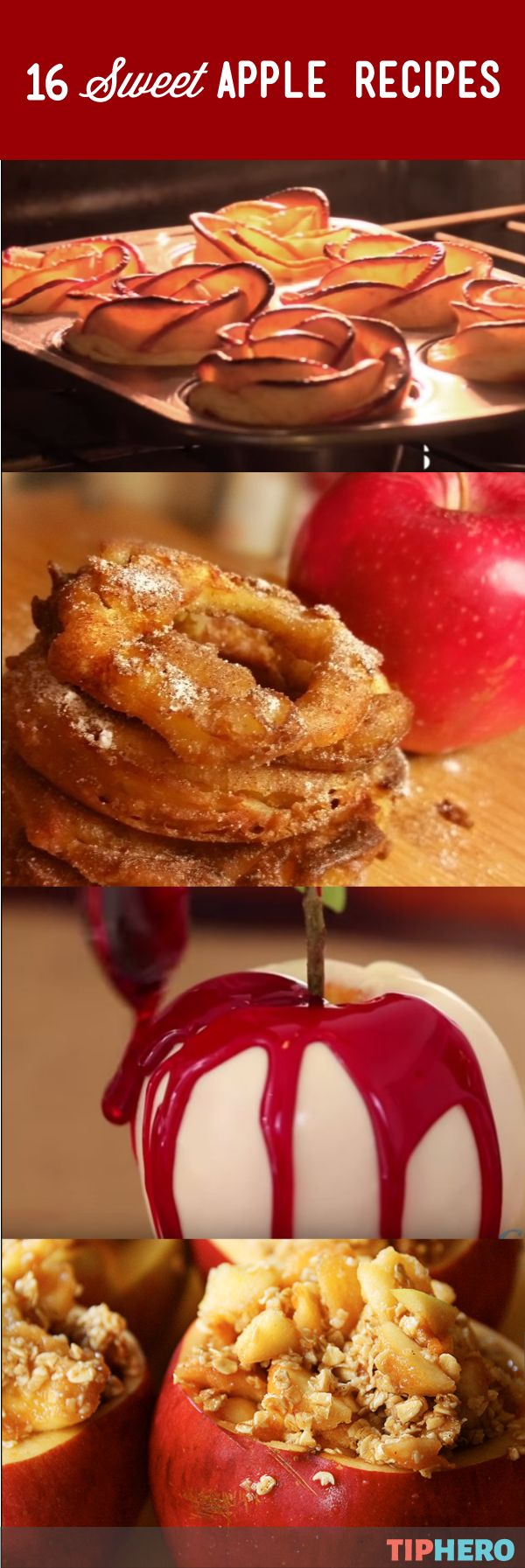 Sweet 16 Ways To Make Apples The Stars Of Your Fall | There's no one way to bake an apple, and this collection of apple-centric recipes will have your mouth watering for more! Think apple rings, apple roll-ups, candied apples, even apple nachos!
