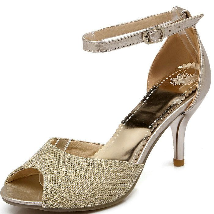 Cheap sandal eva, Buy Quality sandal directly from China sandals nylons Suppliers:  Plus Size 4-14 Women Sandals Gold Silver Sequined Peep Toe Gladiator Sandals Women Summer Shoes Woman Thick High Heel S