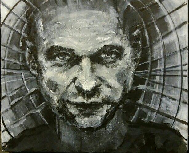 Portrait of David Gahan by Heidi Gihle.
