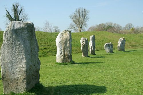 The magical stone circles at Avebury, Wiltshire.